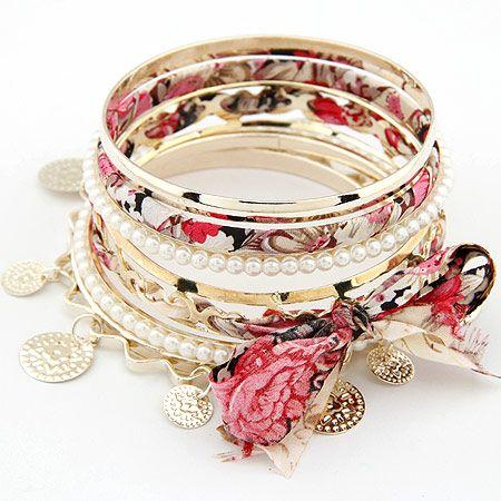 Fashion bracelets Korean fashion temperament bow multilayer pearl bracelet NHSC199092