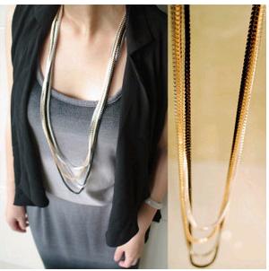 Moda coreana simple cadena de serpiente de cuatro piezas cadena de suéter salvaje NHSC199089's discount tags