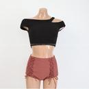 New split triangle small chest sweet bikini hot spring swimsuit women NHHL198787