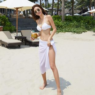 Korean split steel underpants bikini bikini three-piece suit NHHL198801's discount tags