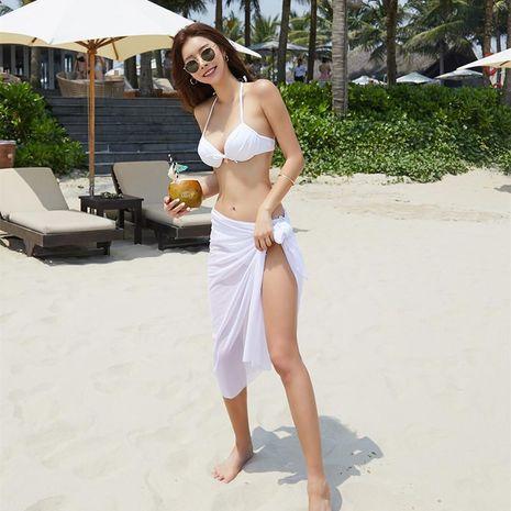 Korean split steel underpants bikini bikini three-piece suit NHHL198801's discount tags