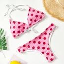 Fashion swimwear wholesale new wave dot printed cross neck lace up bikini swimwear for women NHHL198827