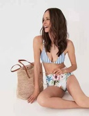 New bikini ladies split high waist bikinii strap buckle size chest gather swimwear NHHL198833