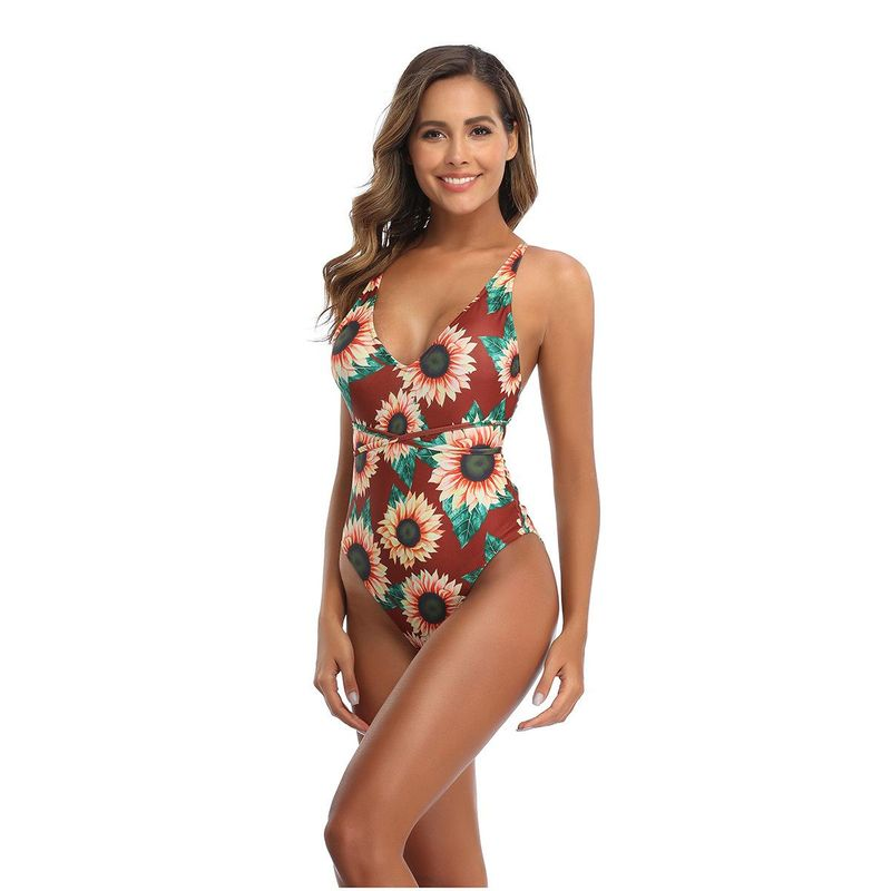 Fashion New One-Piece Multicolor Bikini Women's One-Piece Swimsuit NHHL198853