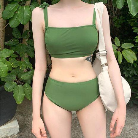 Fashion women's bikinis wholesale new fashion sexy female split bikini swimsuit NHHL198860's discount tags