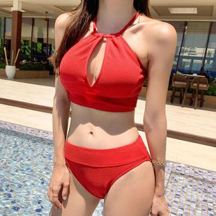 Fashion swimwear wholesale new split triangle was thin bikini hot spring swimsuit women NHHL198861's discount tags