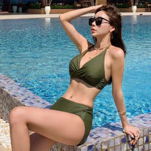 Fashion swimwear wholesale new sexy split bikini swimsuit NHHL198866's discount tags