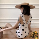 New spot printing conservative conservative thin cover belly hot spring vacation lotus leaf onepiece swimsuit women NHHL198876