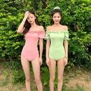 Fashion swimwear wholesale new Korean fashion sexy triangle onepiece swimsuit NHHL198877