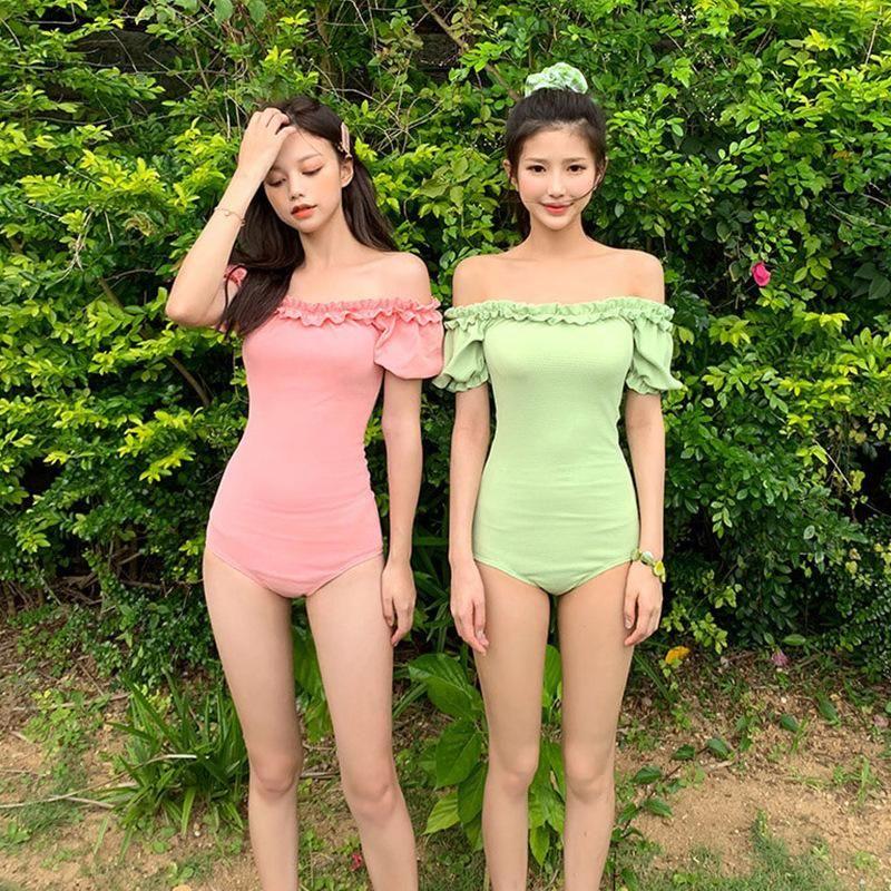 Fashion swimwear wholesale new Korean fashion sexy triangle one-piece swimsuit NHHL198877