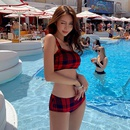 Fashion swimwear wholesale new split triangle sweet bikini hot spring swimsuit women NHHL198878