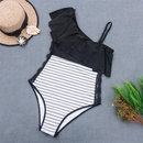 Sexy OneShoulder Lace Stripe OnePiece Bikini Swimsuit Fashion Woman39s monokinis wholesale NHHL198901