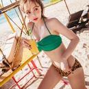 New female split threepoint bikini sexy high waist underwire swimwear NHHL198922