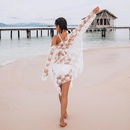 Fashion women39s monokinis wholesale new white lace underwire sexy onepiece swimsuit loose long sleeve blouse NHHL198927