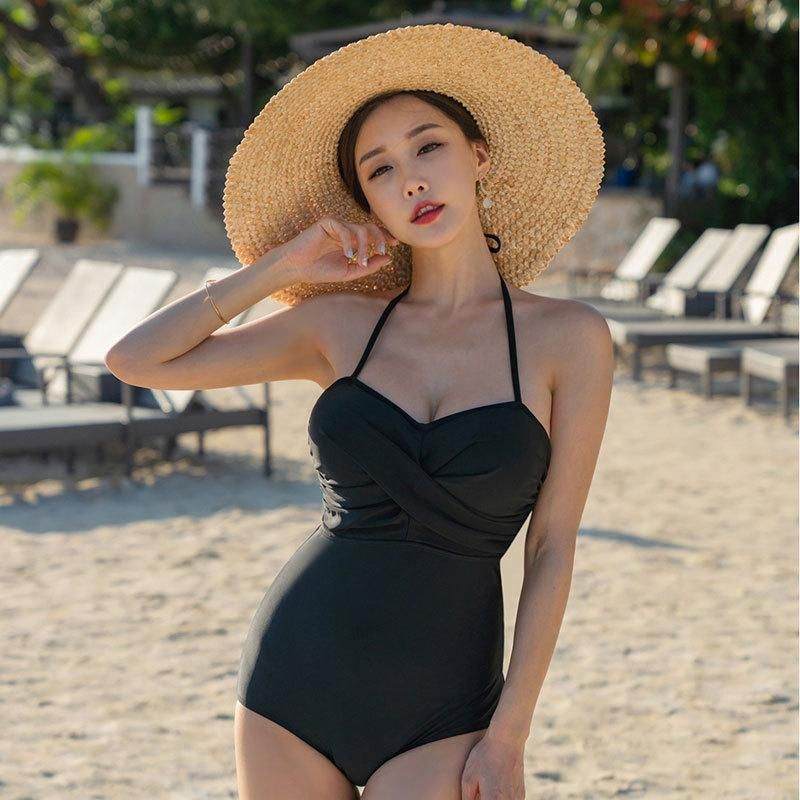 Fashion women's monokinis wholesale new sexy one-piece black swimwear NHHL198930