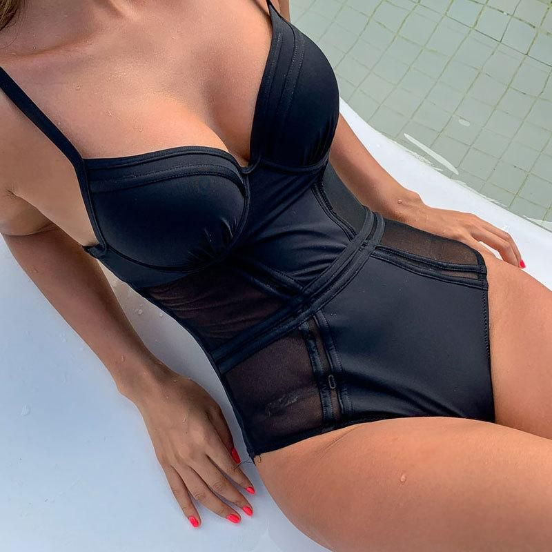 New One-Piece Swimsuit Fashion Leak Back Swimsuit Wholesale Fashion Women's Monokinis NHHL198943