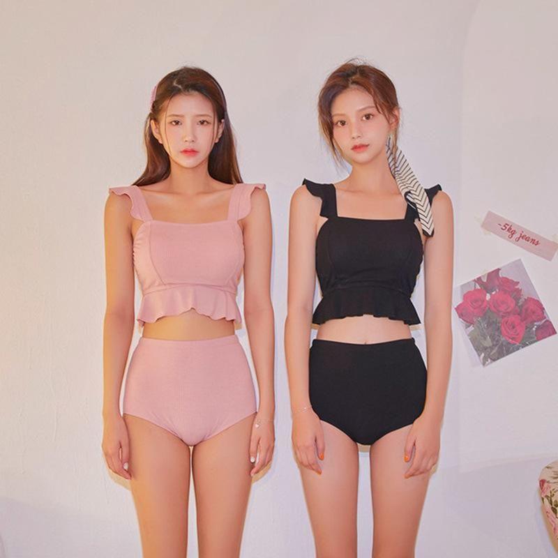 New ruffle bikini women's split two-piece swimsuit NHHL198947