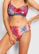 New totem print conservative split swimsuit womens backless bikini NHHL198959