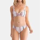 New sexy swimwear stitching bikini stripe high waist split bikini NHHL198970