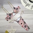Fashion womens bikinis wholesale new metal chain sexy solid color bikini ladies split swimsuit NHHL198978