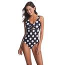 Sexy One Piece Swimsuit Dot Bikini Front Lace Up Swimsuit Wholesale NHHL198988