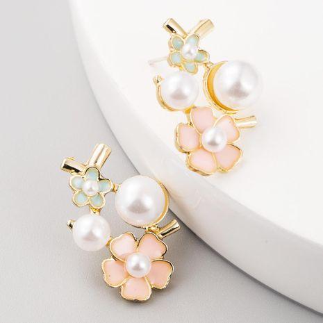 Aretes nuevos pendientes de diamantes simples pendientes de perlas dulces NHLN199015's discount tags