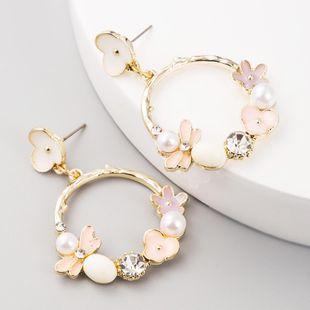 Aretes de flores de moda Pendientes de perlas Boho de aleación de color NHLN199017's discount tags
