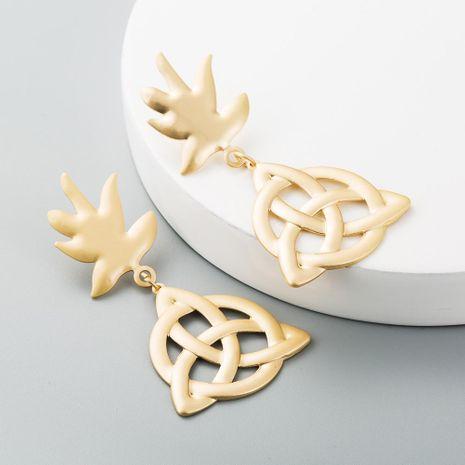 Aretes de mujer huecos Yakin viking rune pendientes de nudos concéntricos mujeres NHLN199020's discount tags