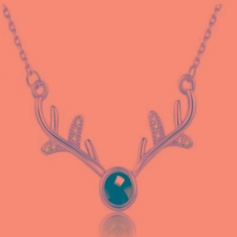Fashion Japanese and Korean Antlers I Love You 100 Languages Pendant Clavicle Chain NHKQ199021