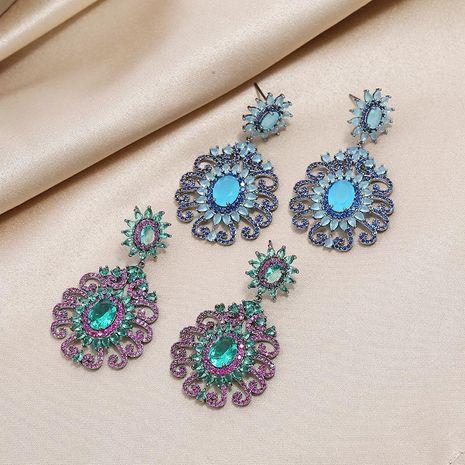 Retro fashion boho temperament trendy wild colored hazel jewelry earrings NHKQ199031's discount tags