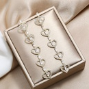 New personality temperament long S925 fashion simple wild cute heartshaped delicate earrings NHKQ199032