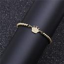Explosiontype microinlaid zircon crown bracelet copper beaded woven bracelet NHYL199057