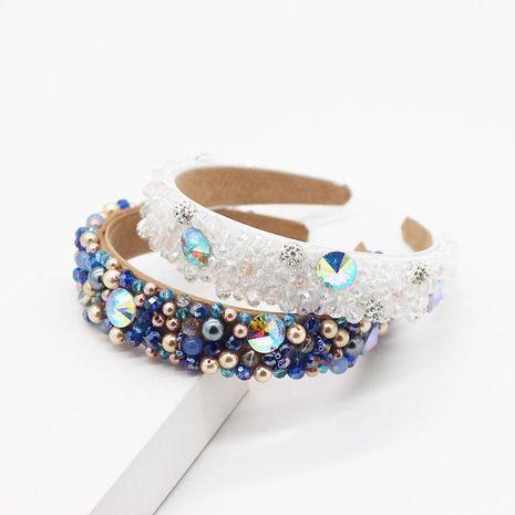 Diadema de lentejuelas de cristal de perla de temperamento coreano NHWJ199079's discount tags