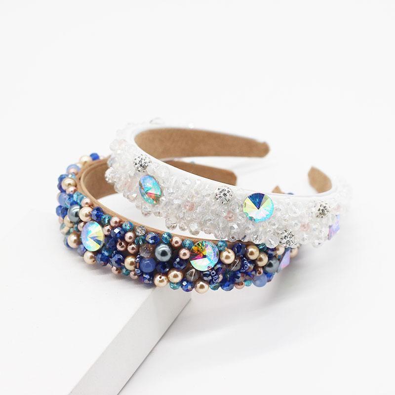 Korean fashion temperament pearl crystal sequin headband NHWJ199079