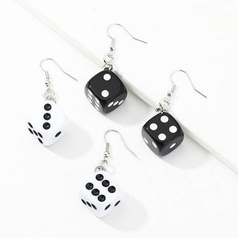Trendy Funny Fun Dice Earrings Retro Fashion Ear Stud Earrings NHNZ199120's discount tags