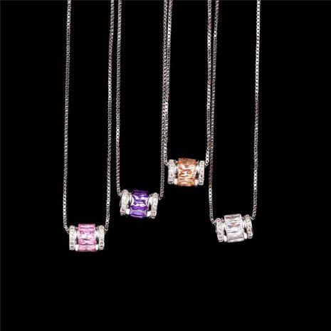 Fashion Micro Inlaid Zircon Large Hole Bead Pendant Stainless Steel Clavicle Chain NHPY199134's discount tags