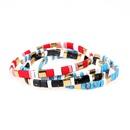 Fashion bracelets beaded bracelets painted rainbow mixed colors handwoven bracelets bracelets NHPY199137