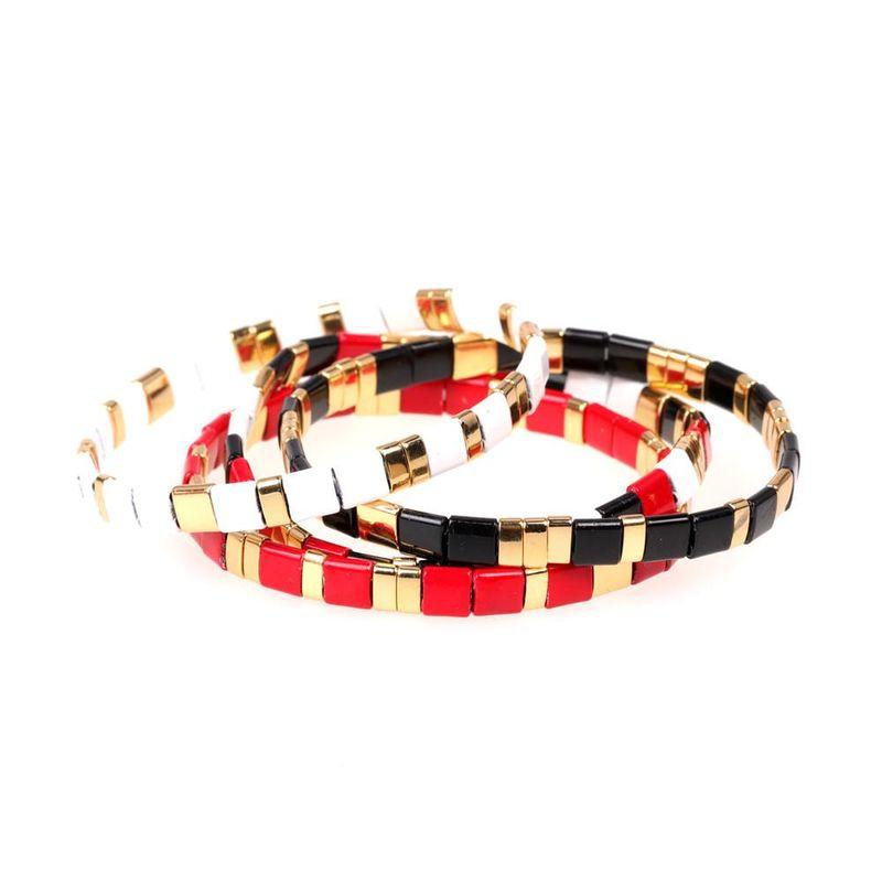 Fashion bracelets new paint candy contrast hand-woven elastic bracelet NHPY199140
