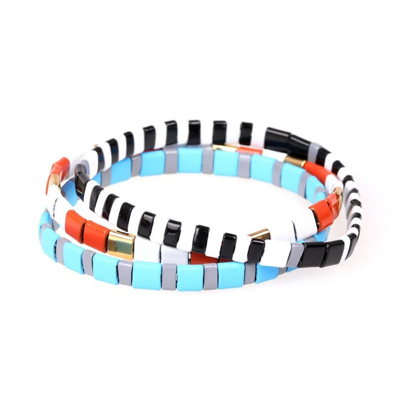 New fashion paint contrast hand-woven bracelet NHPY199146