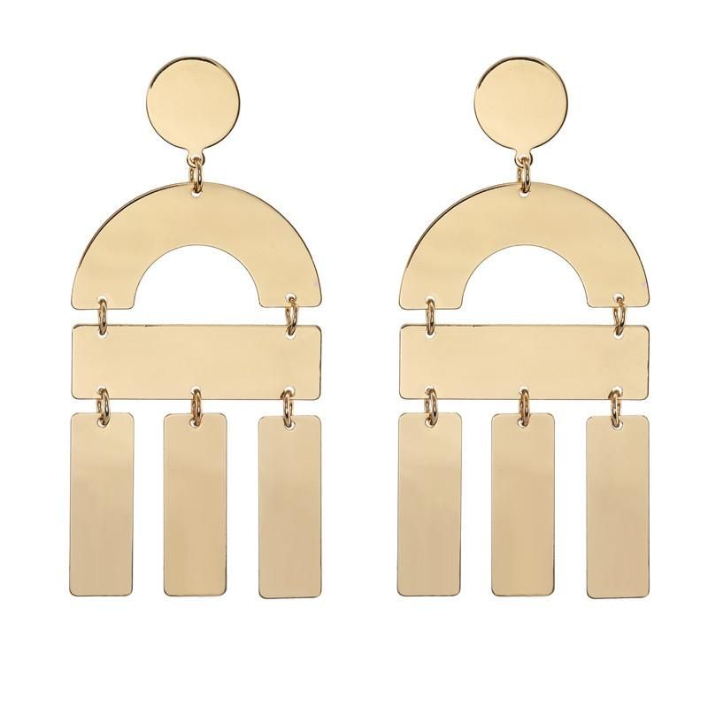 Personality long geometric alloy earrings earrings jewelry women wholesale NHZU199150