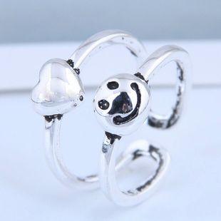 Exquisito anillo de moda al por mayor Retro Smiley Love Open Ring NHSC199715's discount tags