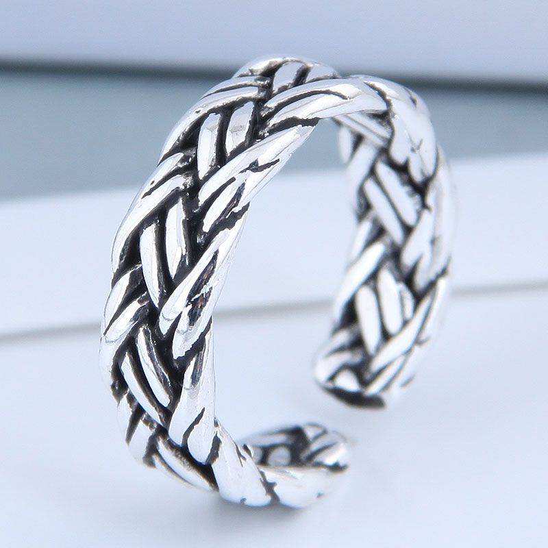 Exquisite Fashion Ring Wholesale Vintage Braided Open Ring NHSC199712