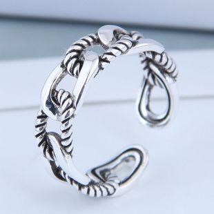Exquisito anillo al por mayor de moda vintage tejido abierto NHSC199711's discount tags