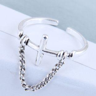 Exquisito anillo al por mayor de moda vintage cruz abierta anillo NHSC199709's discount tags