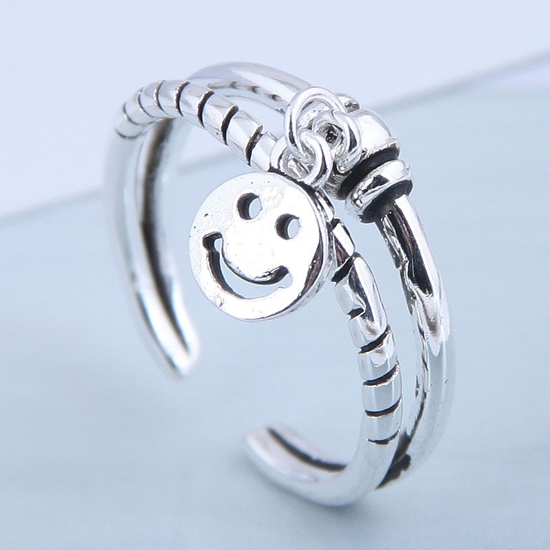 Exquisite Fashion Ring Wholesale Smiley Open Ring NHSC199703