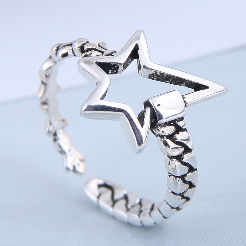 Exquisite Fashion Ring Wholesale Vintage Meteor Open Ring NHSC199704