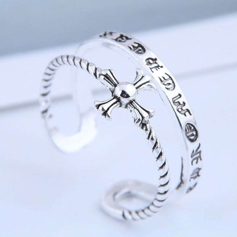 Exquisite fashion ring wholesale retro simple cross open ring NHSC199707