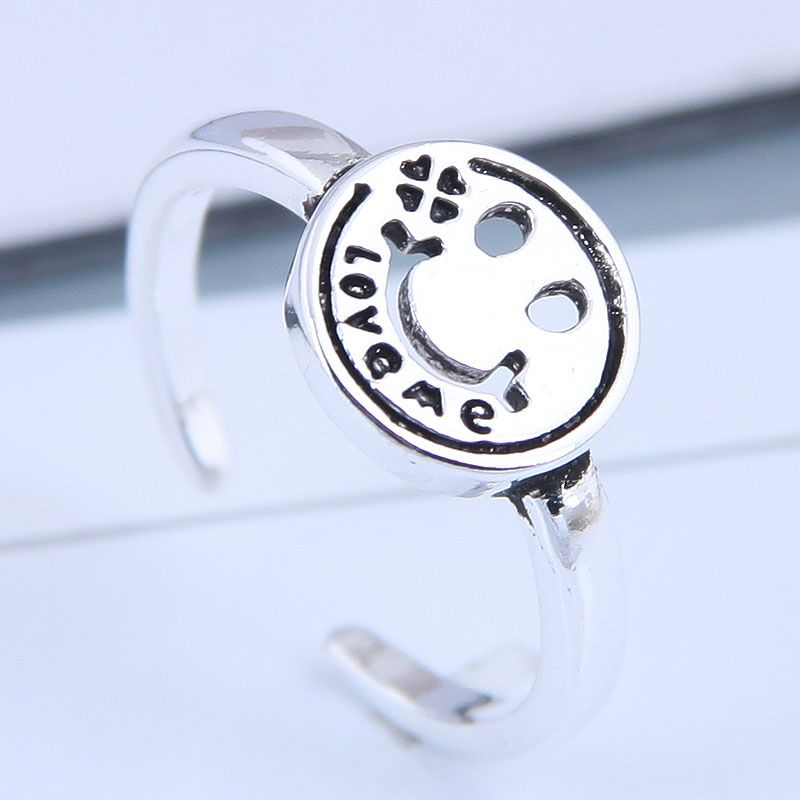Exquisite fashion retro smiley personality open ring wholesales fashion NHSC199693