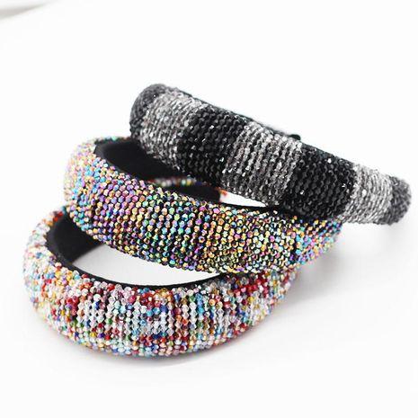 Nueva moda perlas de cristal de colores hermosa diadema de esponja fiesta de graduación accesorios para el cabello NHWJ195972's discount tags