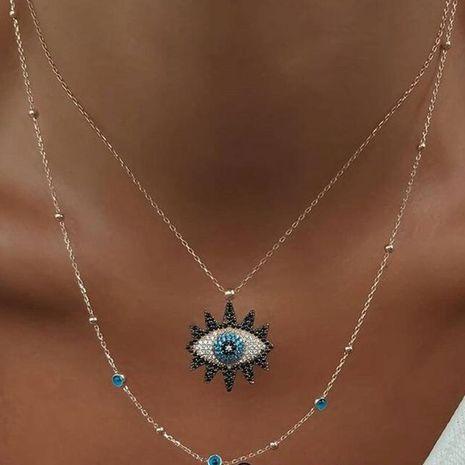 Joyería Moda Vintage Tachonado Collar de ojo de diablo Colgante de ojo Cadena de clavícula NHNZ195978's discount tags